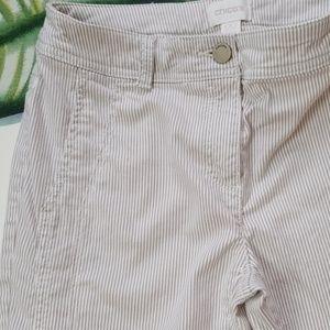 Chico's Regular Skinny tan & white Strip jean